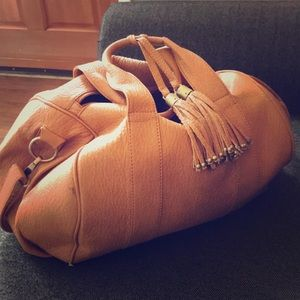 Satchel hobo tan brown bag